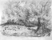 Sketch of Murainau, Aman River, by Emma Bacon,...