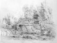 Sketch of Bridge in Cwm Clydach by Lucy Bacon,...