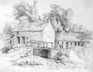 Sketch of Cwm Clydach by one of the Bacon...