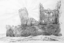 Sketch of Caerphilly Castle by one of the Bacon...