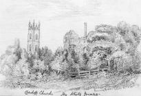 Sketch of White Friars, Cardiff by Emma Bacon,...