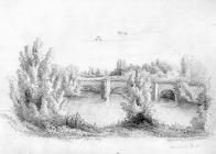 Sketch of Llandaff Bridge, by one of the Bacon...