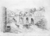 Sketch of Llangollen Bridge, by one of the...