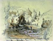Sketch of the River Dee at Llangollen, by one...