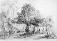 Sketch of Llanwynno Church, by one of the Bacon...