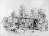 Sketch of Pont Cynon by one of the Bacon...