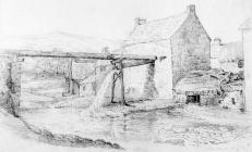 Sketch of Aberdare by one of the Bacon Sisters,...
