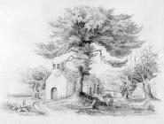 Sketch of Aberdare Church by one of the Bacon...