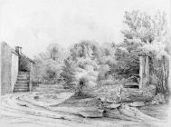 Sketch of pump at Duffryn by one of the Bacon...