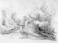 Sketch of Duffryn Mill by one of the Bacon...