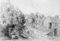 Sketch of bridge on the road to Aberdare by one...