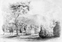 Sketch of Aberaman in a thunder storm by one of...