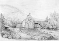 Sketch of bridge over the Aman on the Aberdare...