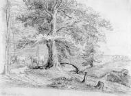 Sketch of Duffryn by one of the Bacon Sisters,...