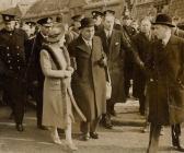 King George VI's tour of Swansea following...