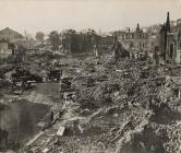 Bomb damage following the 'Three Night&...