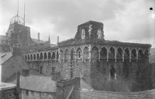 Swansea Castle and Ben Evans Store before the &...