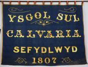 Banner titled 'Ysgol Sul Calvaria,...