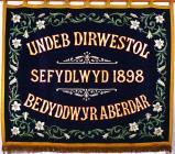 Banner titled 'Undeb Dirwestol Bedyddwyr...