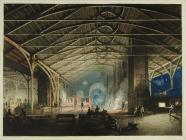 'Cyfarthfa Ironworks Interior at Night&...