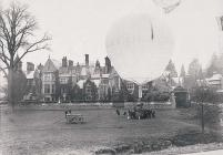 Balloon at the Hendre, home of the Rolls family...
