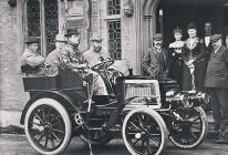 Charles Rolls at the wheel of his Panhard with...
