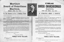 Merthyr Tydfil Board of Guardians election...