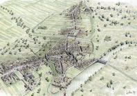 Reconstruction of medieval Carmarthen, 15th...