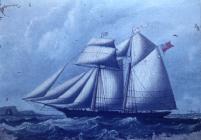 Painting of the ship 'John Pierce'...