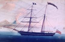 Painting of the ship 'Henry and Dora'...