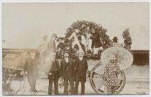 Decorated vehicle, Narberth carnival, 1907