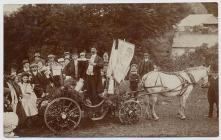 Decorated cart, Narberth Carnival, 1908