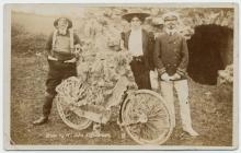 Decorated bicycle class, Narberth carnival, 1909