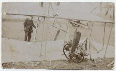 The remains of the James brothers' plane,...