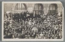 Peace proclamation in Cardigan, 1919