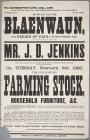 Poster advertising the sale of farming stock...