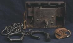 Original lock and key from Haverfordwest prison...