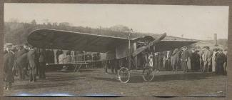 Aeroplane of the pioneer aviator Sidney Pickles...