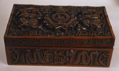 Carved Cigarette box made in Kashmir where 1st...