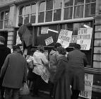 The Welsh Language Society's first protest