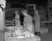 Making Eccles cakes at the Arran factory in...