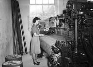 A woman working at a loom, Dinas Mawddwy...