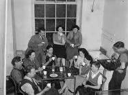 Workers in the canteen, Dinas Mawddwy Woollen...