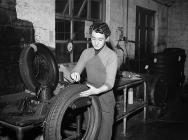 A tyre factory, north Wales, 1957