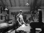 The youngest worker at Penmachno Woollen Mill,...
