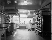 The laundry, Llangwyfan hospital, 1955