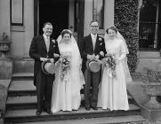A double wedding at Llanrhaeadr, 31 March 1954