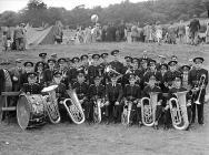 Oakley Quarry brass band at Dolgellau Folk...