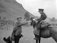 The postman arrives at Cwm Berwyn where his is...