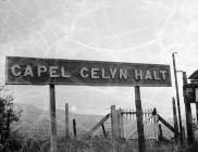 Background shots of Capel Celyn and district,...